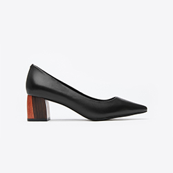 188A-1 Black V-Cut Sophisticated Heels