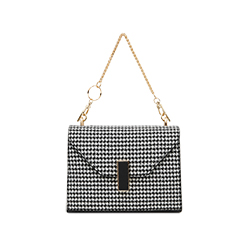 SB6406 Houndstooth Leather Bag
