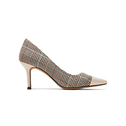 LT828-13 Plaid Pointy Heels