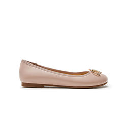 1801-1 PINK DAINTY BOW FLATS