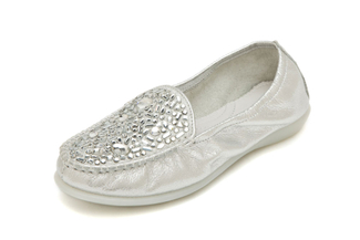 898-3 Silver Loafer