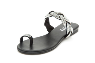 1081-2 Black Diamante Sandals