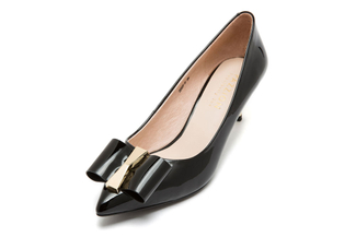 2029-5 Black Court Shoe