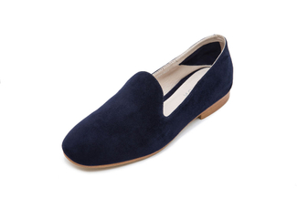 7399-233A Dark Blue Suede Loafer