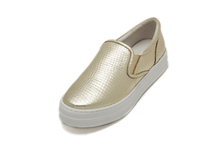 8198-115 Light Gold Platform Sneakers