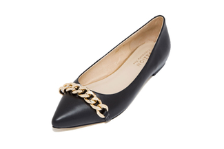0628-51 Black Pointed Flat