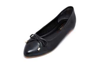 367-5 Black Casual Flat