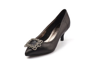 286-8 Black Sophisticated Heels