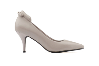 228-60 Grey Stud-back Pointy Heel