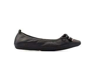 35210-66 Black Pointy Ballet Flats