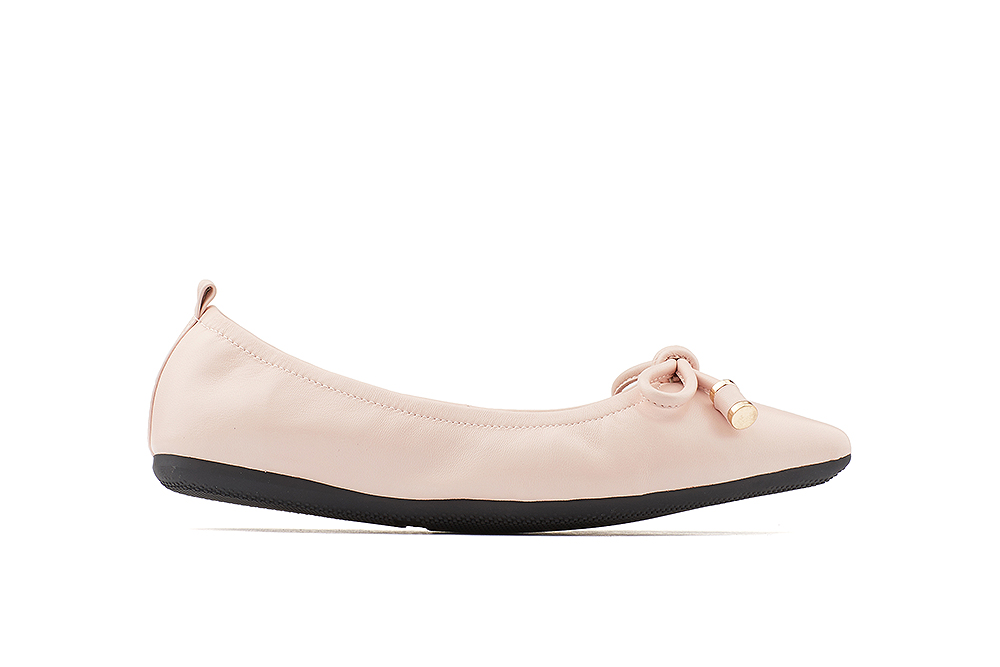 b0532301c5457 35210-66 Pink Pointy Ballet Flats