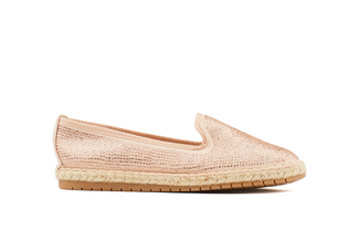 007-1A Champagne Sparkling Espadrilles