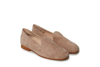 7399-233A Taupe Suede Loafer