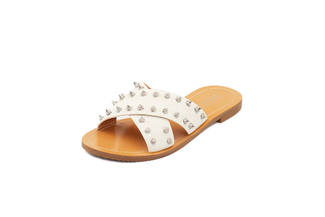 444-14 Beige Casual Sandals