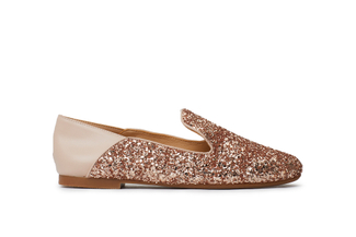 1620-02 Champagne Glitter Loafers