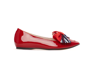 209-19 Red Sleek Loafers