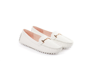 A8-2 White Comfort Loafers