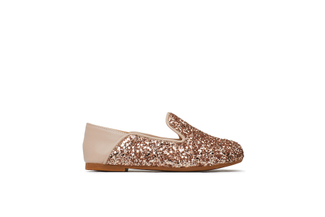 BB1620-02 Kids Champagne Loafers
