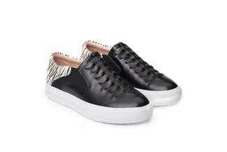 HY178-60 Black Metallic Slip-on Sneakers