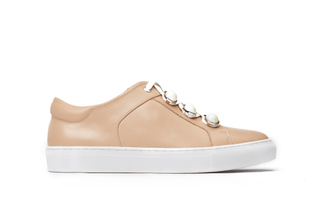 J03-11 Apricot Embellished Sneakers