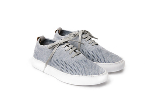 J033-2 Grey Lace-Up Knit Sneakers