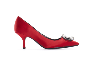 0427-B1 Red Jewel Pumps