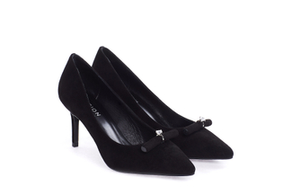 108-9 Black Dainty Crystal Pump