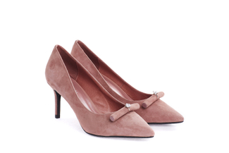 108-9 Taupe Dainty Crystal Pump