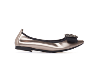 3230-2 Bronze Jeweled Metallic Flats