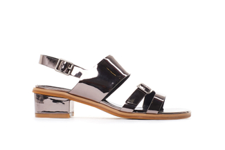 386-2 Pewter Edgy Metallic Sandals