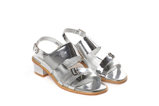 386-2 Silver Edgy Metallic Sandals