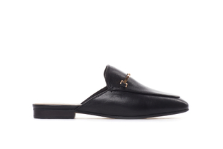 6936-10 Black Metal Trim Mules