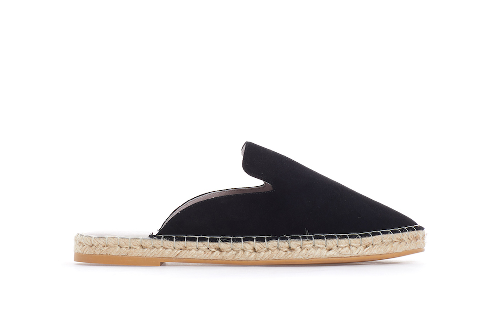 7c745b15d ... Black Suede Espadrille Mules. previous. previous. Share