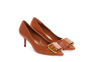 2328-11 Brown Buckle Pumps