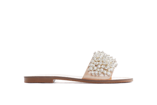 444-9 Almond Pearl Slide Sandals
