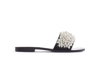 444-9 Black Pearl Slide Sandals