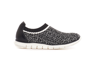 003-4 Black Knit Sock Sneakers