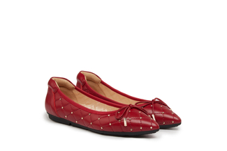 208-10A Wine Quilted Ballerina Flats