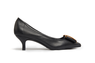 286-9 Black Bow Pumps