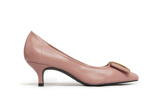 286-9 Taupe Bow Pumps