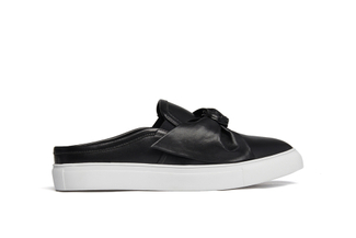 502-1A Black Bow Mule Sneakers