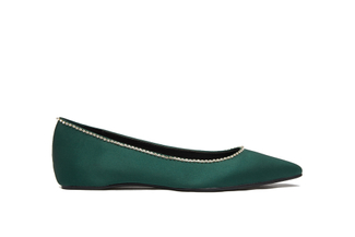 5041-B1 Dark Green Silver Trim Flats