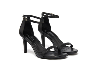 6005-201 Black Classic Strappy Heels