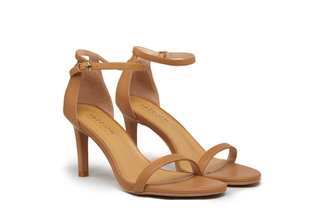 6005-201 Brown Classic Strappy Heels