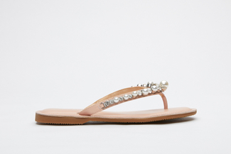066-47 Pink Pearl Thin Flip-flops