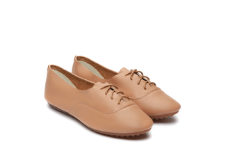 801-13 Almond Lace Up Flats