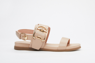 3392-7 Almond Chunky Statement Sandals