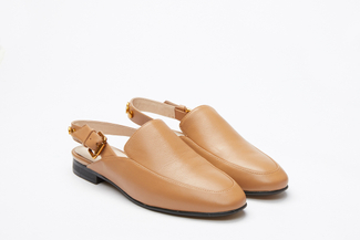 6936-15 Brown Slingback Mules