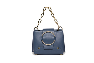1881 Blue Buckle Shoulder Bag