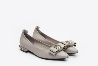 3990-1 Grey Pointy Pumps